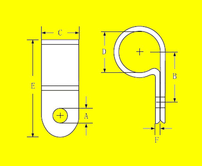 Aerospace Nylon Clamps Wire 8