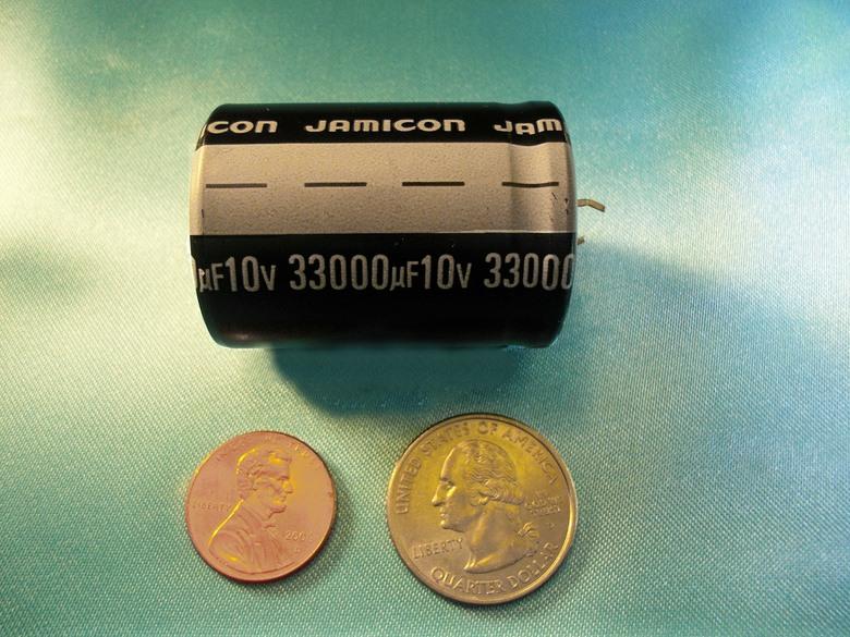 Capacitor 33 000 33000 Uf Microfarad 10 V Volt Snap