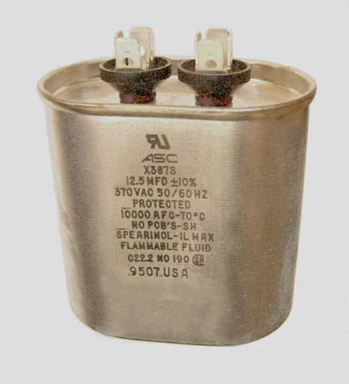 Capacitor motor run 12 5 uf microfarad 370 vac 50 60 for Blower motor capacitor symptoms