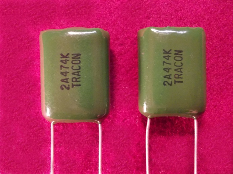 Qty 5 .47uF 470nF 50V Xicon Tracon High Reliability Polyester Film Capacitors
