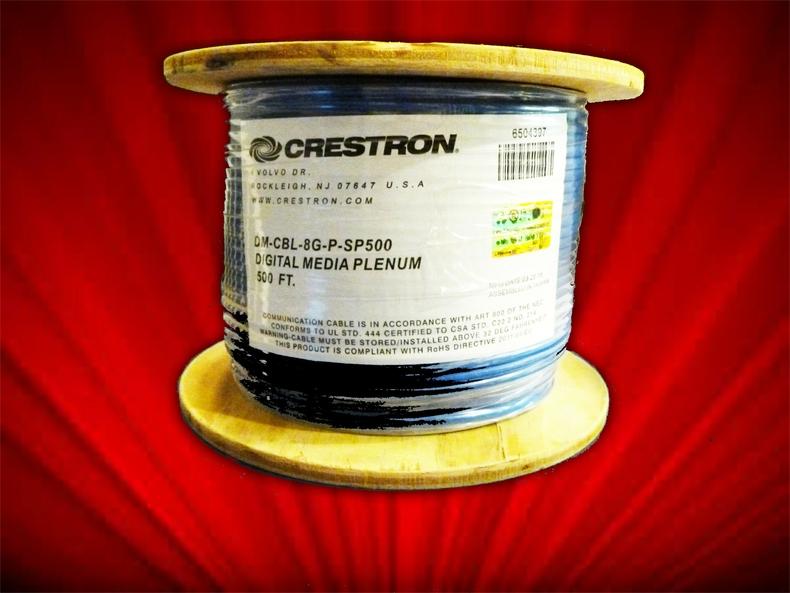 Qty 1 Cable  New  Crestron  DM-CBL-8G-P-SP500  Plenum 500/'//ft//foot//feet Spool