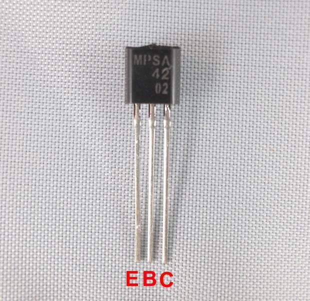 Quantity 1 Transistor Mpsa42 To 92 200v 500ma